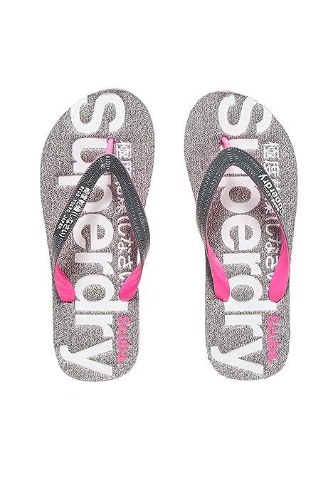 ac76ce9783d80 Superdry Scuba Marl Flip Flop - Grey Grit-Dark Grey-Fluro Pink (Synthetic