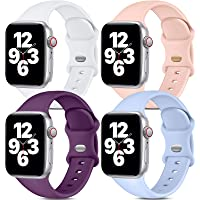 Dirrelo - [Paquete de 4] Correas deportivas compatibles con Apple Watch de 38 mm, 40 mm, 42 mm, 44 mm, correa de…