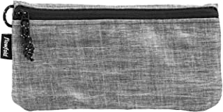 product image for Flowfold's Women's Large Zipper Pouch Wallet - Durable & Lightweight - Interior Organization - Vegan - Heather Grey