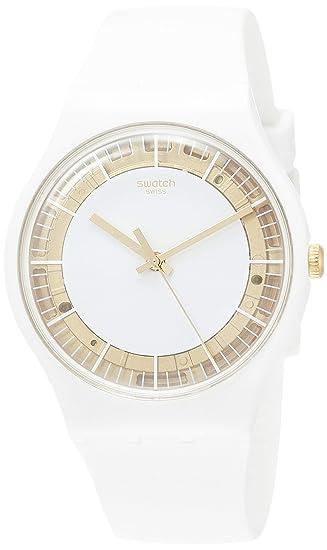 Swatch Reloj Analógico para Mujer de Cuarzo con Correa en Silicona SUOW158: Amazon.es: Relojes