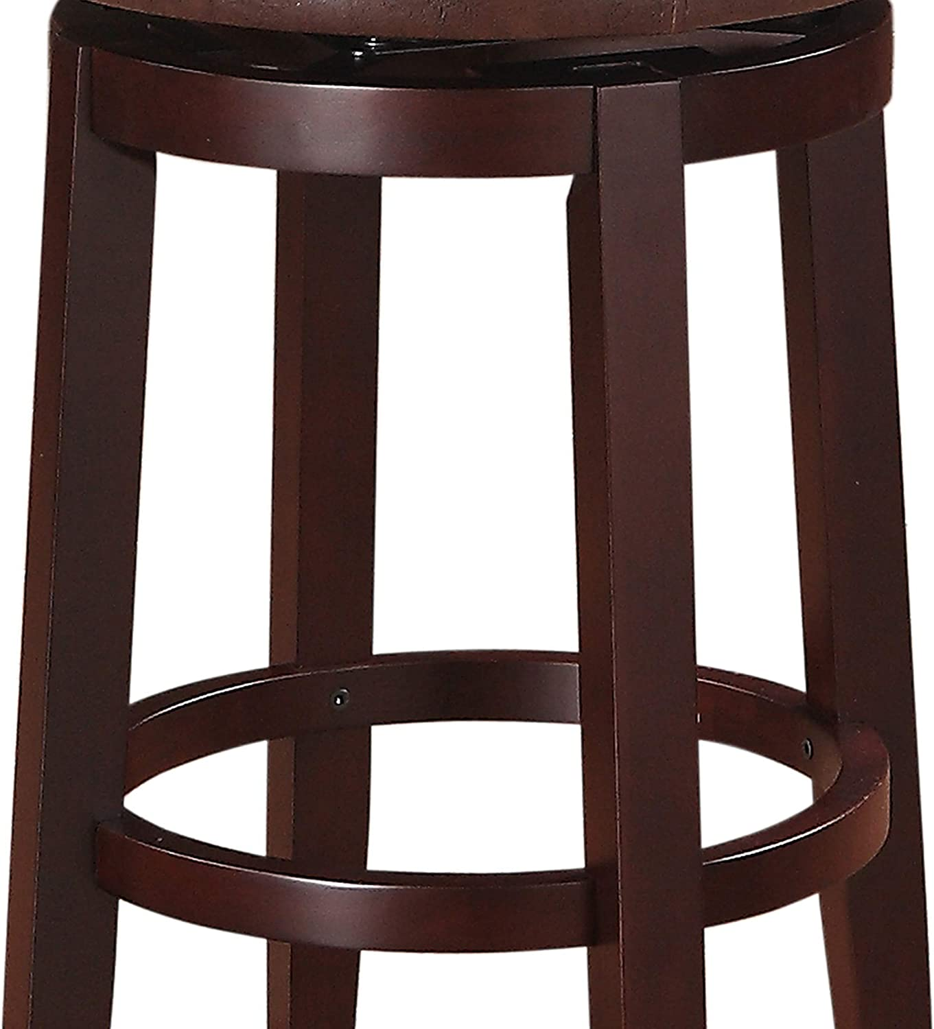 Amazon Com Benjara Fabric Upholstered Wooden Counter Stool With Slanted Legs Brown Furniture Decor