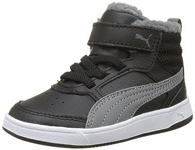 Puma Rebound Street V2 Fur, Zapatillas Unisex Adulto, Negro (Black-Smoked Pearl), 44 EU