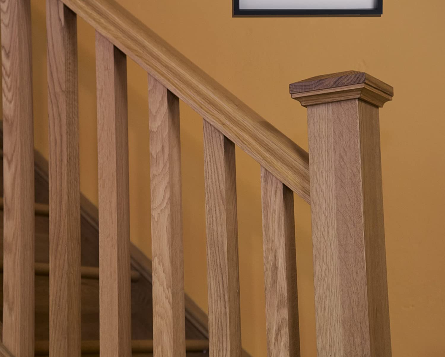 Stair Kit Oak Stair Parts 30 Hand Rails Base Rails Spindles Newels And Pyramid Caps Amazon Co Uk Kitchen Home