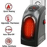 Estufa Eléctrica Calefactor Mini Portátil Handy Heater 350W Bajo Consumo Temperatura Regulable Baño Casa Oficina Enchufe UE