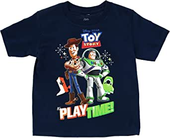 Disney Toddler's Toy Story Buzz Woody Play Time Tee Shirt