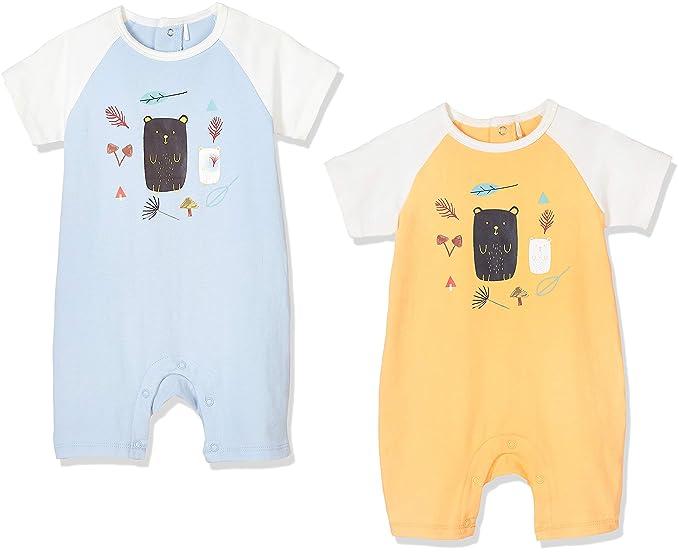 Amazon.com: Zanie Kids Unisex Baby Short Sleeves Snap ...