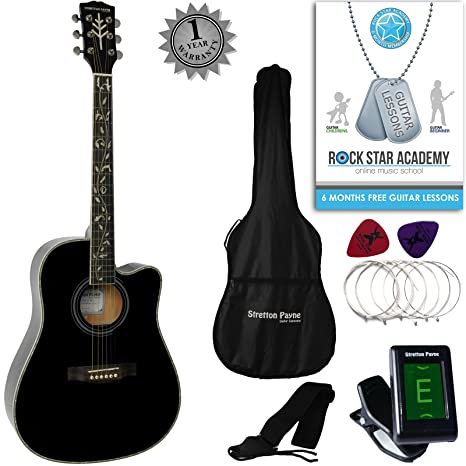 Stretton Payne Dreadnought Cutaway Guitarra acústica: Amazon.es ...