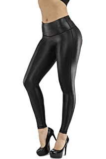 33547402223f8 Zena Faux Leather Leggings | High Waisted Pants| Black Leggings for  Women|Tummy Control