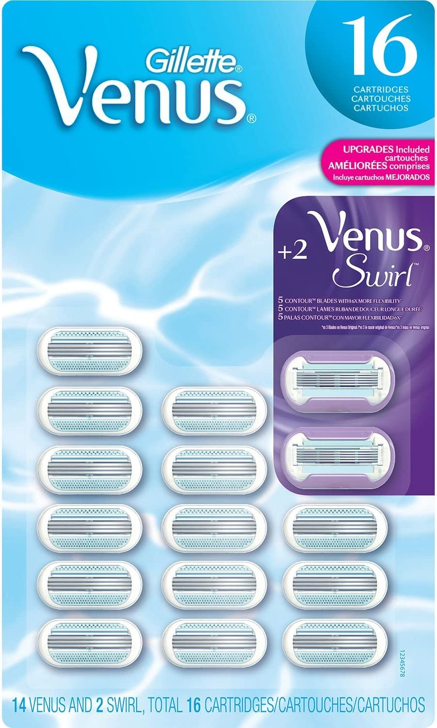 Venus Cartridges - 14 ct. + 2 Venus Swirl Cartridges ES