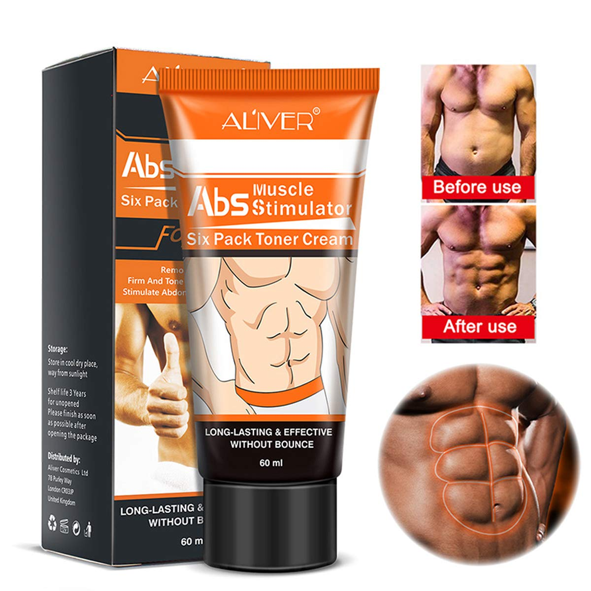AL IVER Men Powerful Abdominal Muscle Cream,Slim Cream,Fat Burner, Weight Loss Slimming Enhancer Workout Coconut Body Creams Leg Body Waist Effective Anti Cellulite Fat Burning,Tighten Muscles