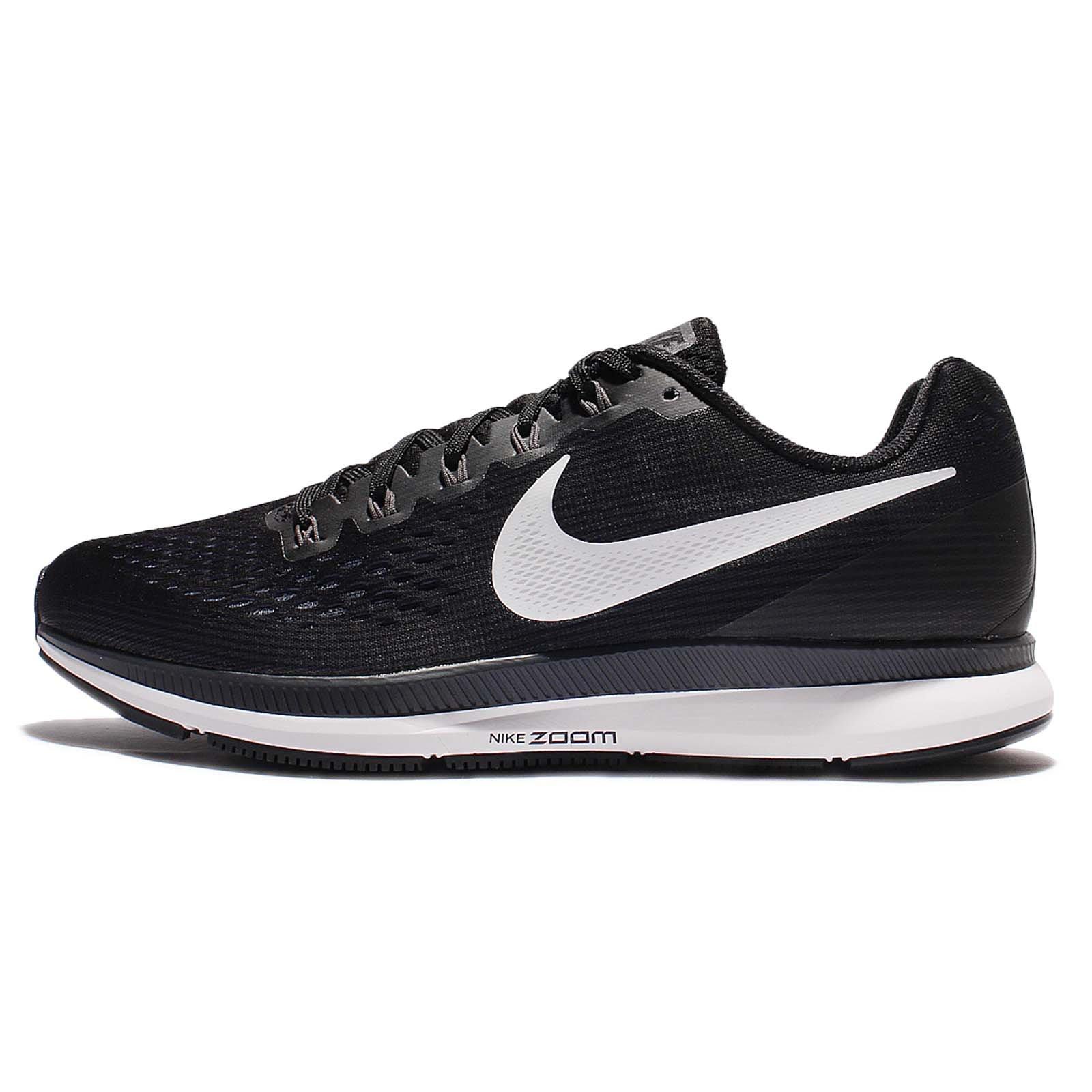 Nike Men's Air Zoom Pegasus 34 Running Shoe Black/White-Dark Grey-Anthracite 12.0 by Nike