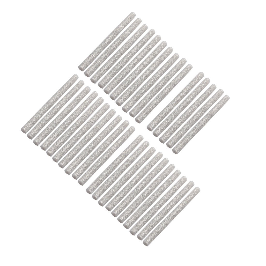 uxcell 35pcs 7mm x 100mm Hot Melt Glue Sticks Silver Tone for DIY Small Craft Projects