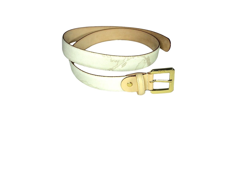 Cintura donna Alviero Martini Prima Classe colore geo bianco.Art. CA2776188. Misura cm. 100 Altezza cm. 3