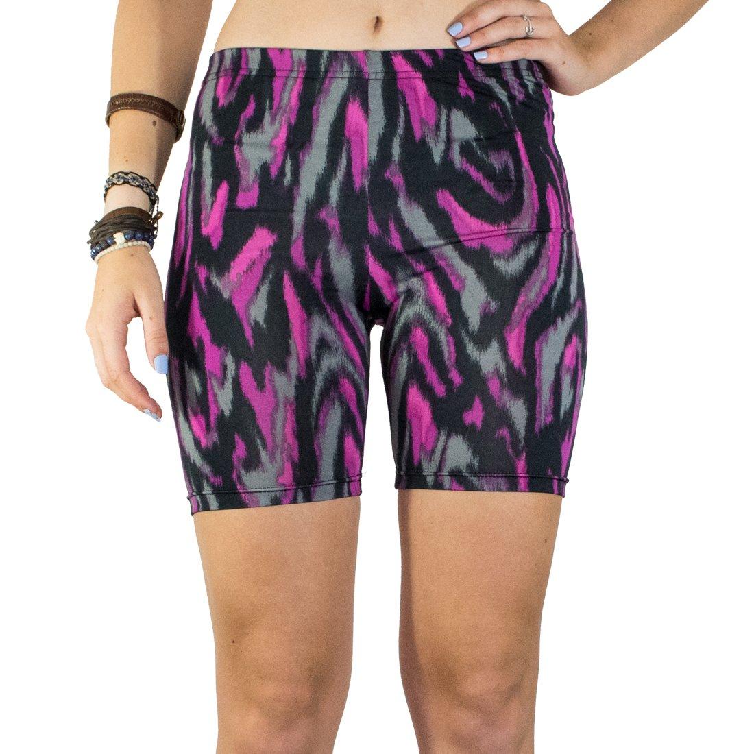Booties, Women's Breathable Yoga Exercise Swim Party Shorts :: Fuchsia City