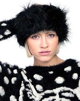 Ladies Girls Faux Fur Headband Head Band Wrap Warmer Winter Hat Ear Muffs