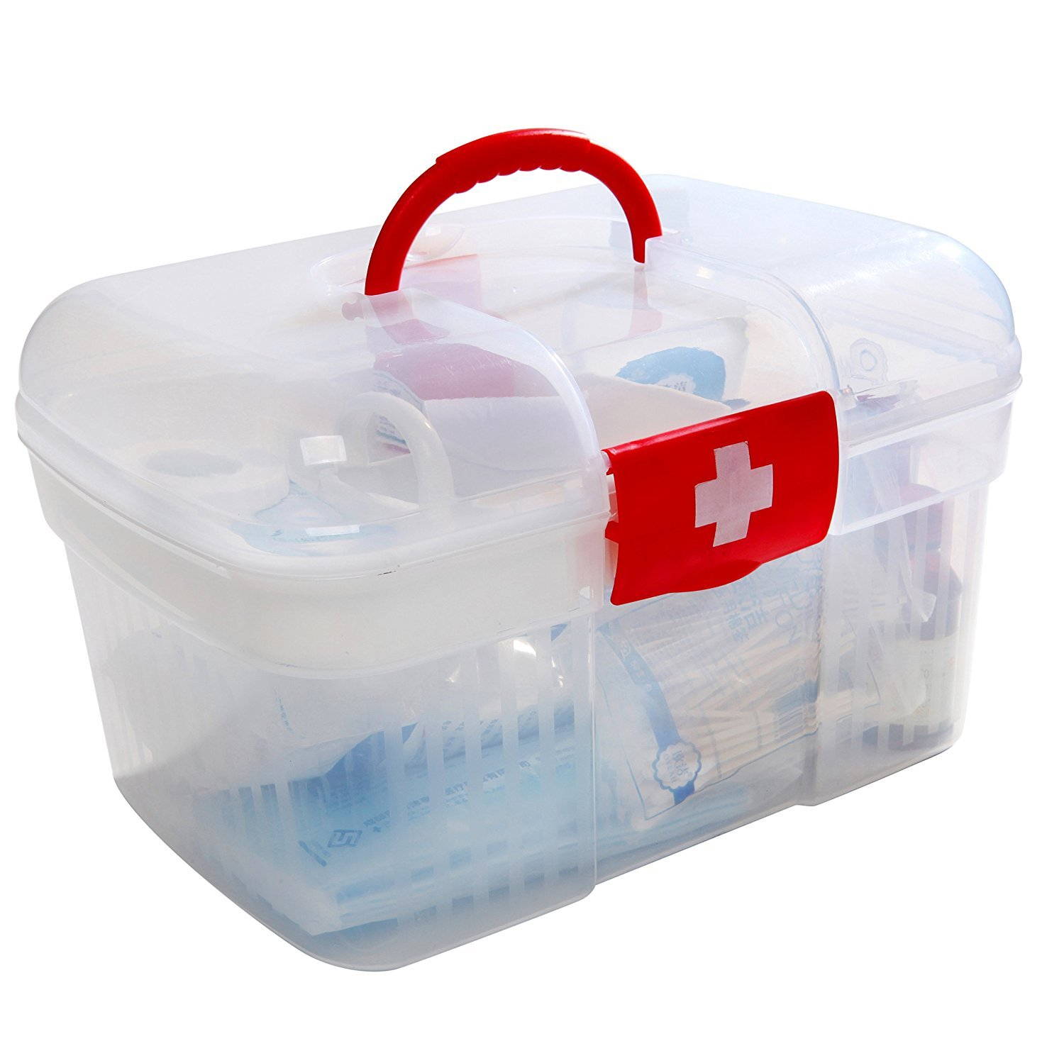 Inditradition First Aid Kit Storage Box   Travel Medical Box - 25x16x16 cm  (Transparent): Amazon.in: Home & Kitchen