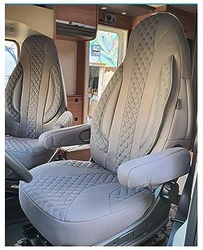 grau Ma/ß Sitzbez/üge kompatibel mit Fiat Ducato Typ 250 BJ ab 2006 Fahrer /& Beifahrer FB:PL409
