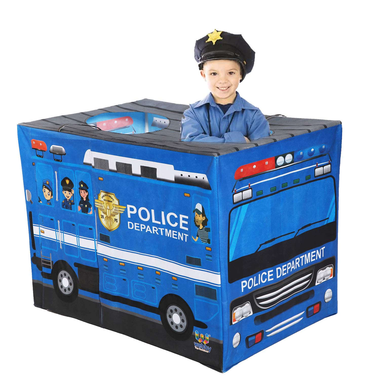 Webby Police Department Play Tent for Kids