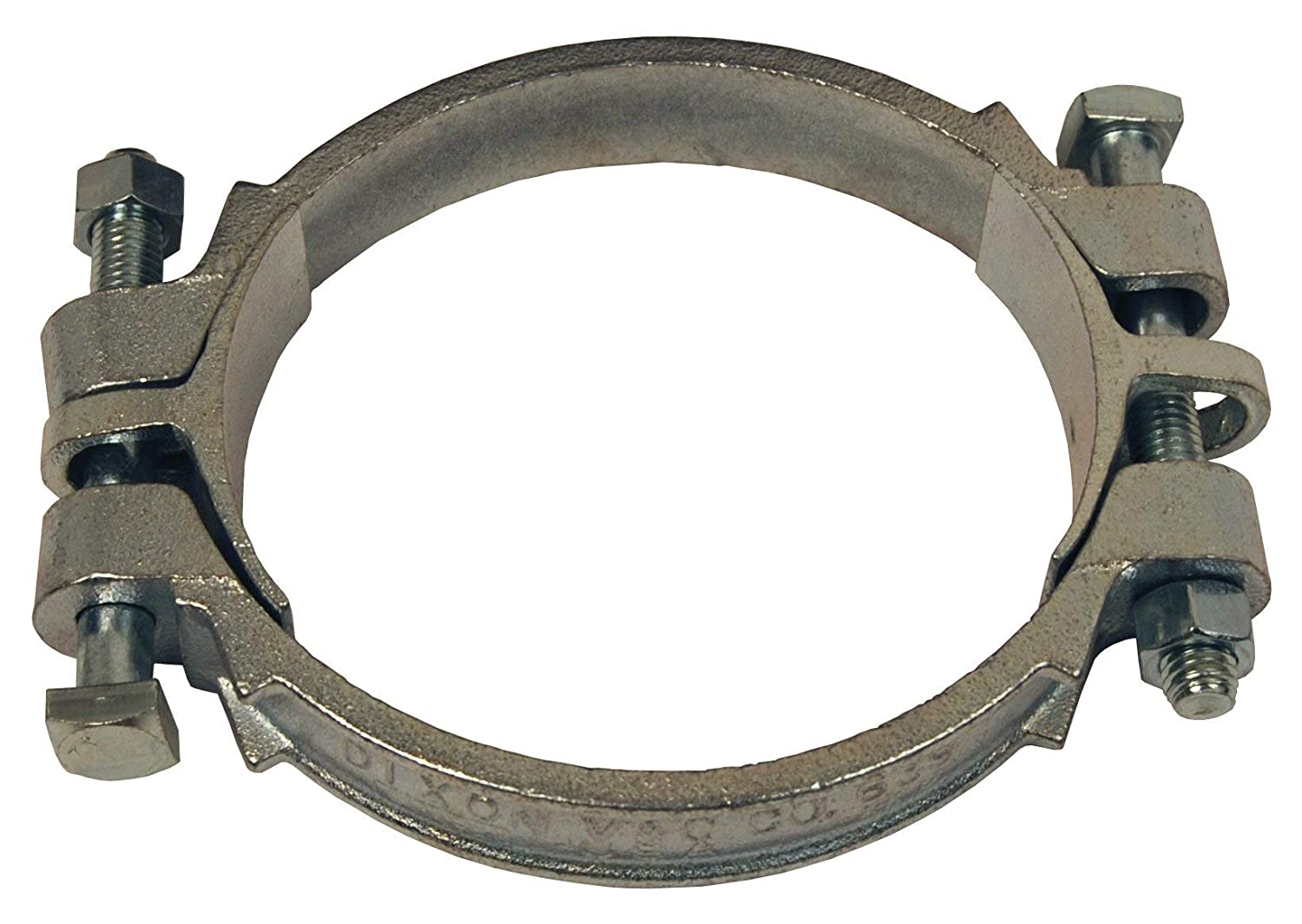 6 ID Zinc Plated Iron Nut-MN8 Dixon 639 Double Bolt Clamp with SC10 Saddles Bolt-MB8450
