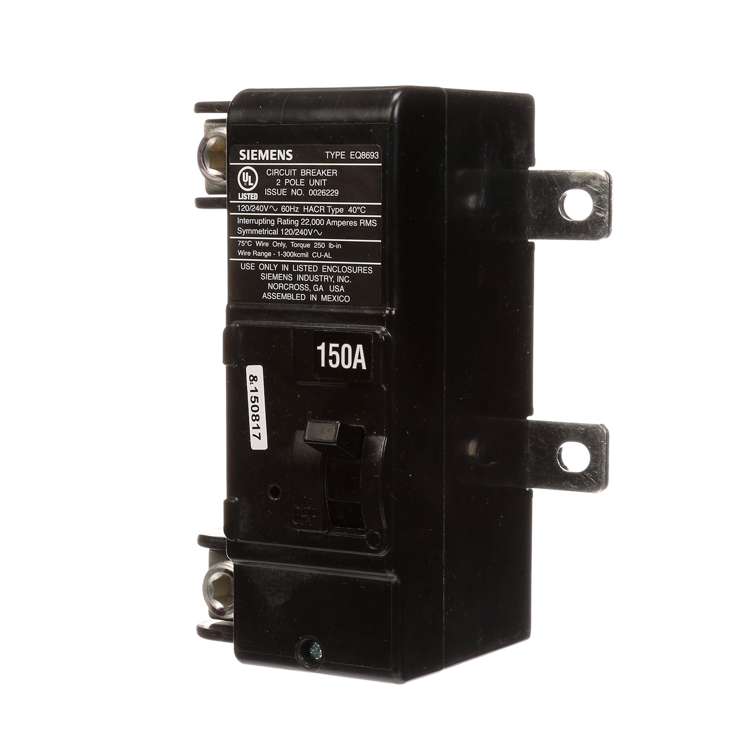 Siemens MBK150A 150-Amp Main Circuit Breaker for Use in Ultimate Type Load Centers by SIEMENS