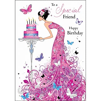 Birthday Greetings Card JJ8801 Special Friend