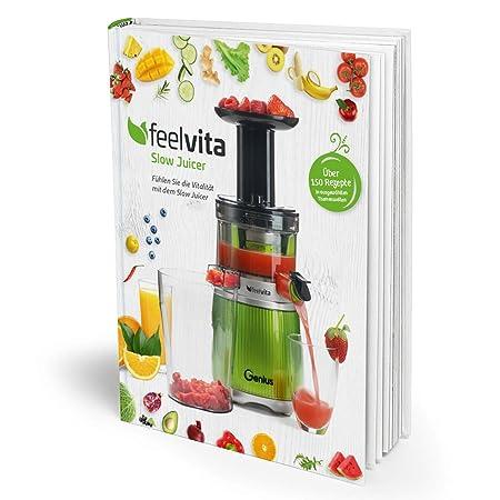 Genius Feelvita Slow Juicer libro de recetas para exprimir ...