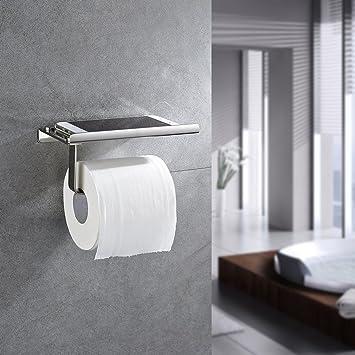 Auralum Porte Rouleau De Papier Toilette En Acier Inoxydable à