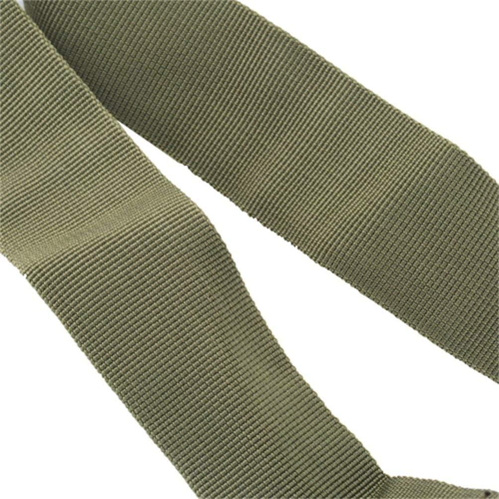 Verde Militar Nihlsen 1pcs Correa de Sistema de Eslinga el/ástica Ajustable de Punto /único Cuerda de cintur/ón de Nylon de Seguridad multifunci/ón con Gancho de Metal