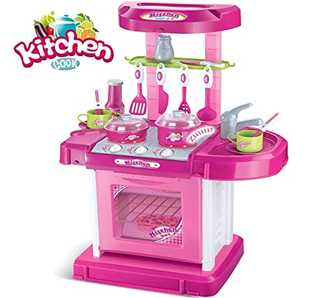 Vivir Luxury Battery Operated Kitchen Set With Lights, Sound And A Carry Case