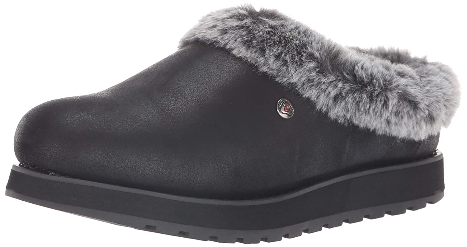 Skechers BOBS Women's Keepsakes R E M Faux Fur Lined Shootie with Memory Foam Slipper