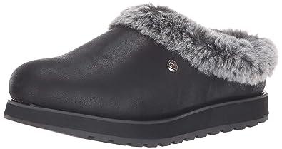b34d3066739 Skechers BOBS Women s Keepsakes-R E M Faux Fur Lined Shootie with Memory  Foam Slipper Black