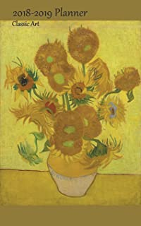 2018 2019 planner classic art medium academic 2018 19 agenda with yearly and monthly pages and vincent van gogh sunflowers pd 1923 cover