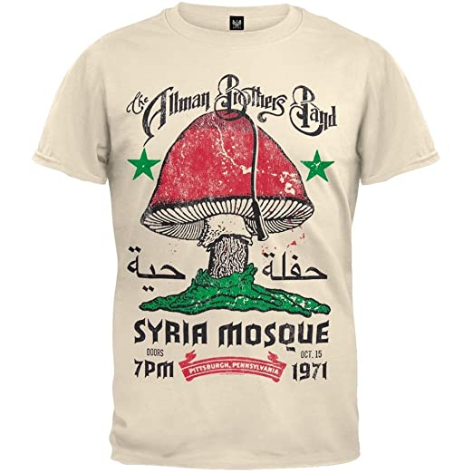 62d2511c4 Amazon.com: Allman Brothers Band - Syria Mosque T-Shirt: Arts ...
