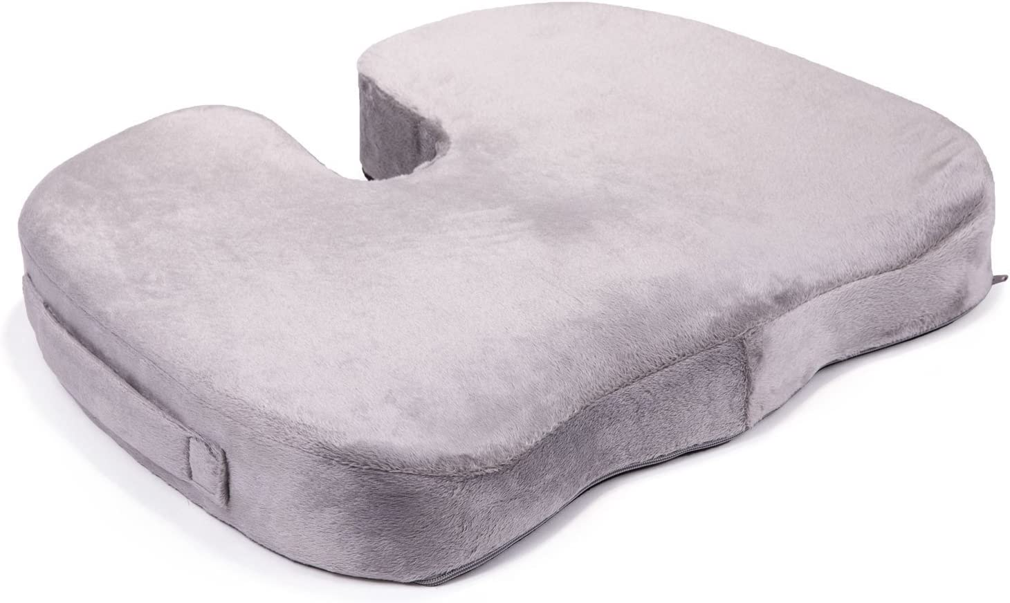 DR. FOAM Orthopedic Memory Foam Seat Cushion with Ergonomic Tailbone Support Groove for Back Pain and Sciatica Relief