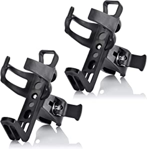 n/q 2PCS Black Bicycle Bottle Cage,Bicycle Non-Slip Bottle Cage, Screwless, Bicycle Cup Holder, 360-Degree Rotating Bicycle Bottle Cage, MTB Bicycle Stroller Motorcycle Drink Holder.