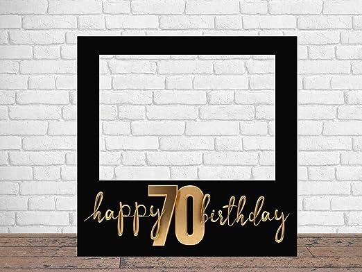 Photocall Feliz 70 Cumpleaños 100 x100 cm | Regalos para Cumpleaños | Photocall Económico y Original | Ideas para Regalos | Regalos Personalizados de ...