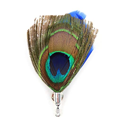 d3f5ea7ba98 Amazon.com  Men s Peacock Feather Lapel Pin with Clutch Back  Clothing