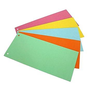 Separadores para archivador, cinco paquetes de diferentes colores de 100 hojas, colores: verde