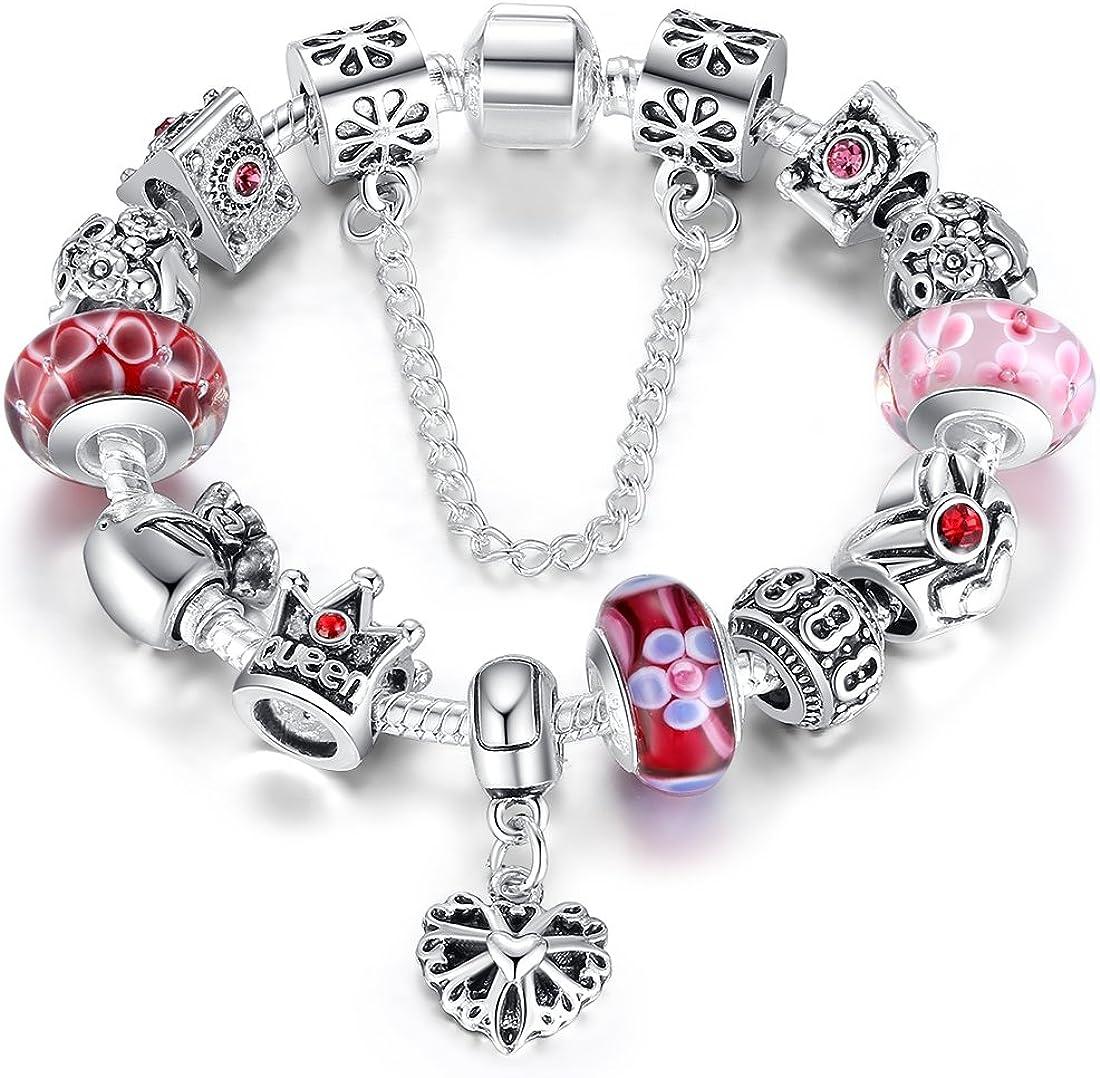 Wostu, pulsera con perlas para mujer