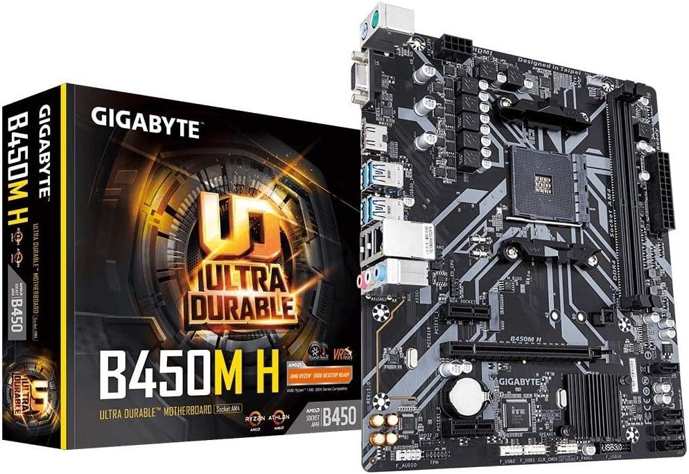 Gigabyte Placa Base AMD AM4 B450M H D4 M-ATX
