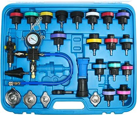 FreeTec Sistema de Refrigeración Tester Probador de Sistema de Enfriamiento,28 Piezas: Amazon.es: Coche y moto