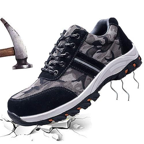 JACKSHIBO Mens Womens Work Safety Shoes 44eb99a7da