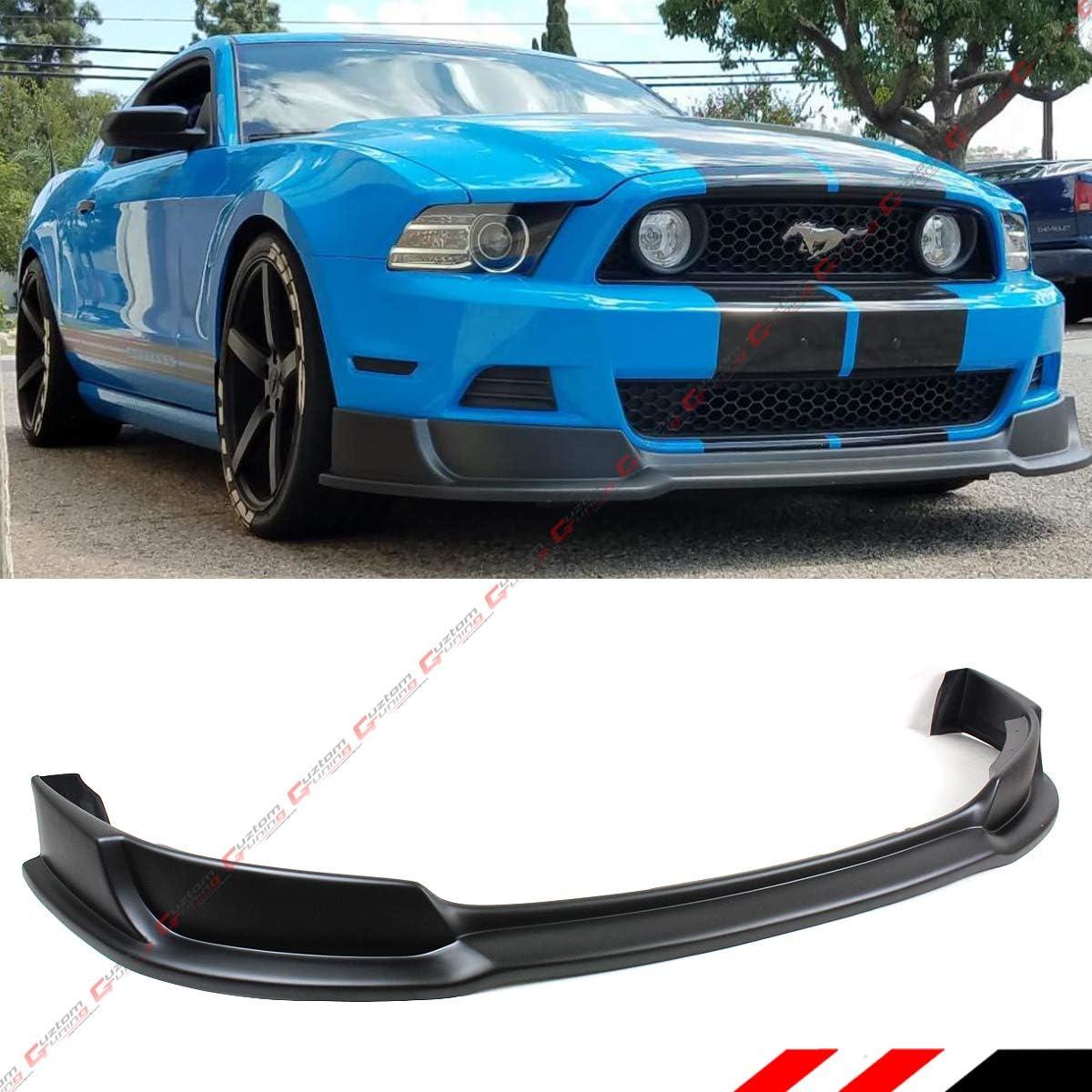 Fits 2013-2014 Ford Mustang V6 V8 GT RTR Sty PU Front Bumper Lip Spoiler Black