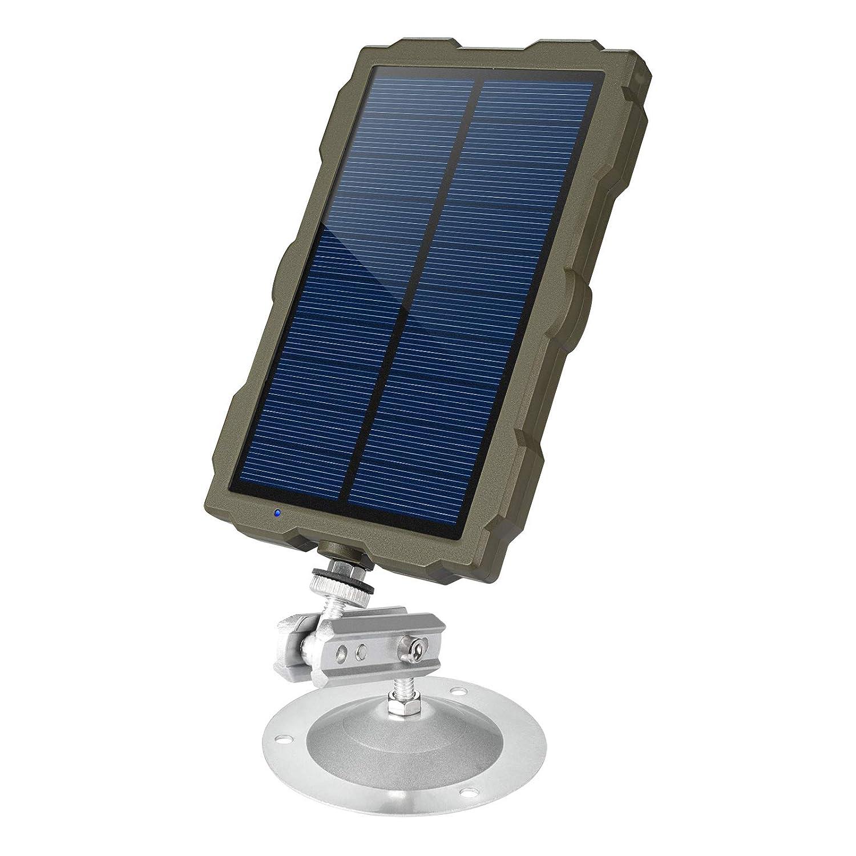 FLAGPOWER Solarpanel Ladegerät Solargeräte, 1.5W Mini Sonnenkollektor 1500mAh Solar Panel Solar Ladegerät Akku für Outdoor Wildkamera Jagdkameras (IP56 Wasserdicht)