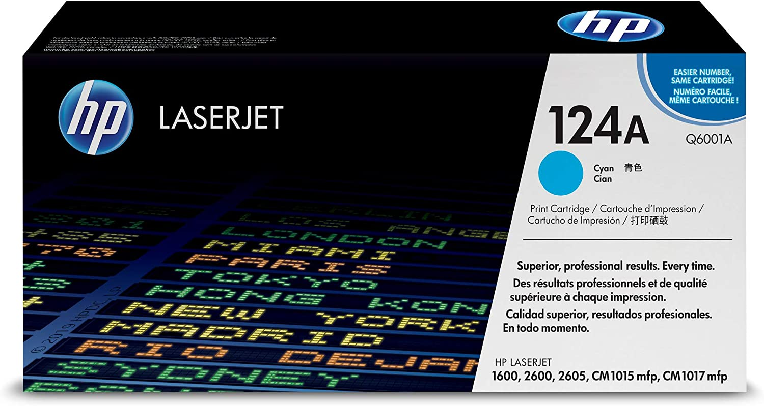 HP 124A | Q6001A | Toner Cartridge | Cyan