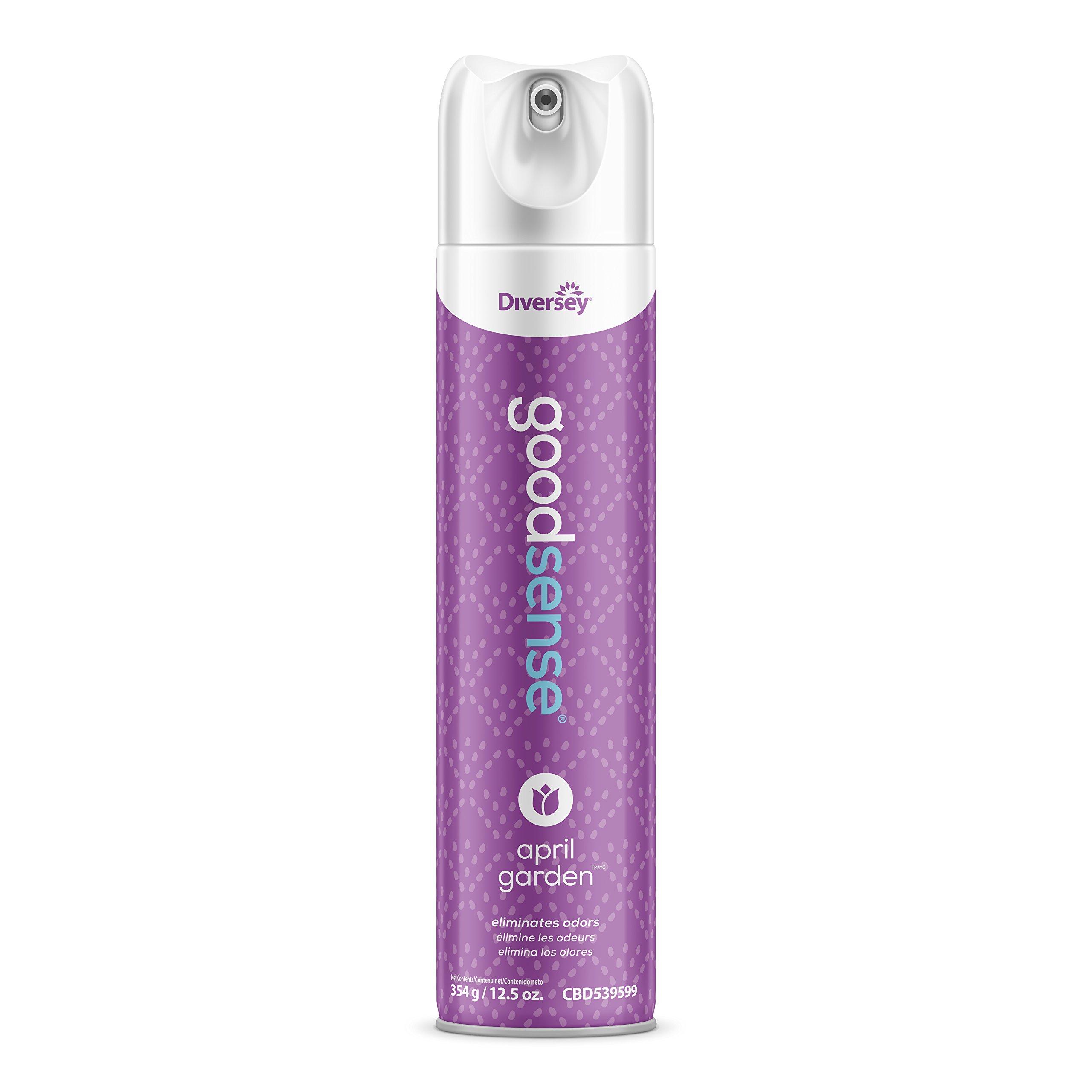 Diversey Good Sense Air Freshener - Water Based Odor Eliminating Spray - April Garden (6 Pack)