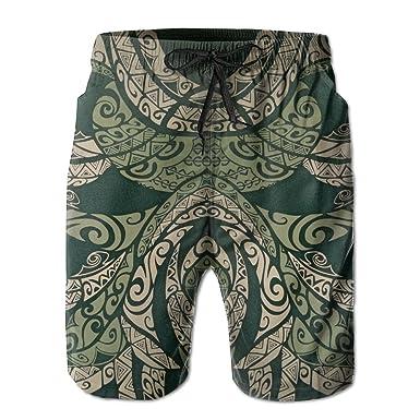 cdded8e95b9b3 Green Tribal Pattern Beach Board Shorts Fashion Patterned Classical Jogging