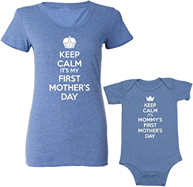 Ready for adventure and I/'m the adventure baby bodysuit IVF Matching Mommy and Me sets