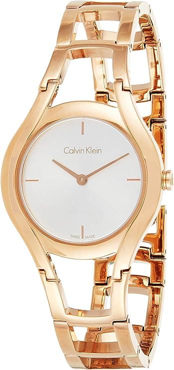 Calvin Klein Reloj de pulsera analógico de cuarzo para mujer, acero inoxidable 32001549