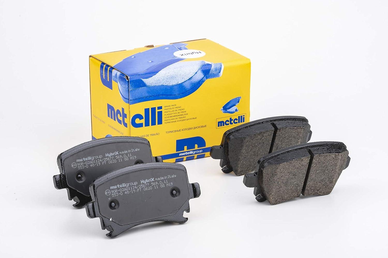 metelligroup 22-0327-0 Pastillas de Freno sin Cobre Repuestos para Autom/óviles Certificaci/ón ECE R90 Made in Italy
